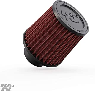 K&N Universal Clamp-On Engine Air Filter: Washable and Reusable: Round Tapered; 3 in (76 mm) Flange ID; 5.563 in (141 mm) Height; 6 in (152 mm) Base; 5 in (127 mm) Top ,  RU-4990