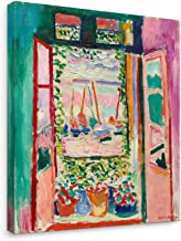 Niwo Art - Open Window Collioure, Henri Matisse Painting Reproduction, Canvas Wall Art Home Decor, Gallery Wrapped, Stretc...