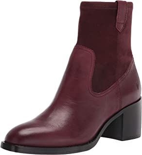 Frye Women's Monroe Stretch Bootie Ankle Boot, Burgundy, 10