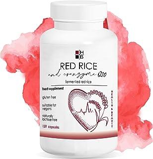 RISO ROSSO e COENZIMA Q10 HB   120 capsule   riso rosso fermentato   con VITAMINA Q10   Prodotto Italiano