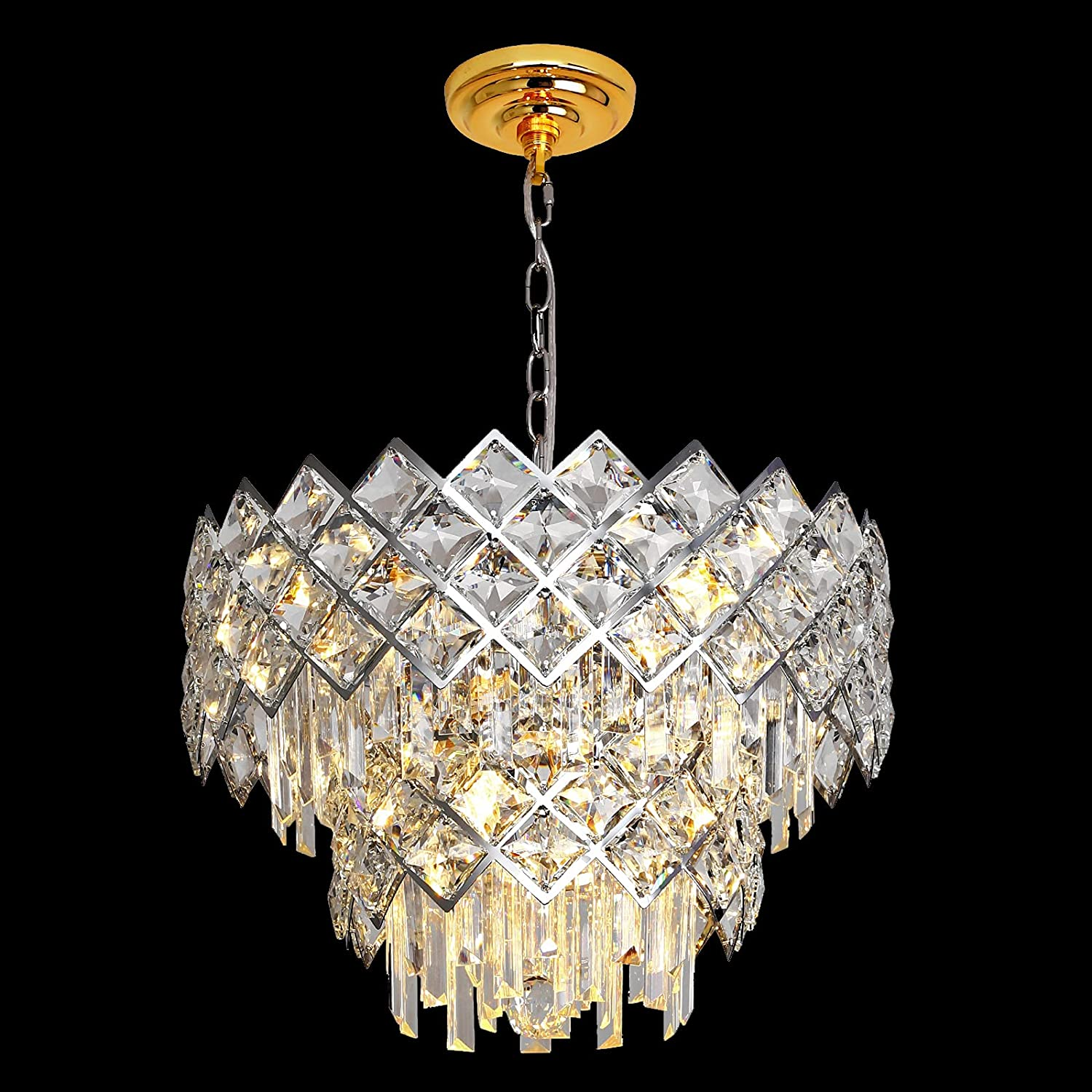 Modern Crystal Chandelier 2021new shipping free shipping 6-Lights Selling rankings Chrome Round Raindro