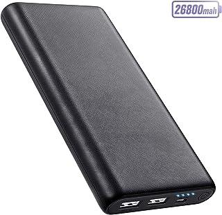 AOPAWA Batería Externa 26800mAh Power Bank, [Nueva Versión 2020 Antideslizante] Cargador Portátil Ultra Compacto Carga Rápida 2 Puertos USB con IC automática para Teléfono Móvil,Tableta