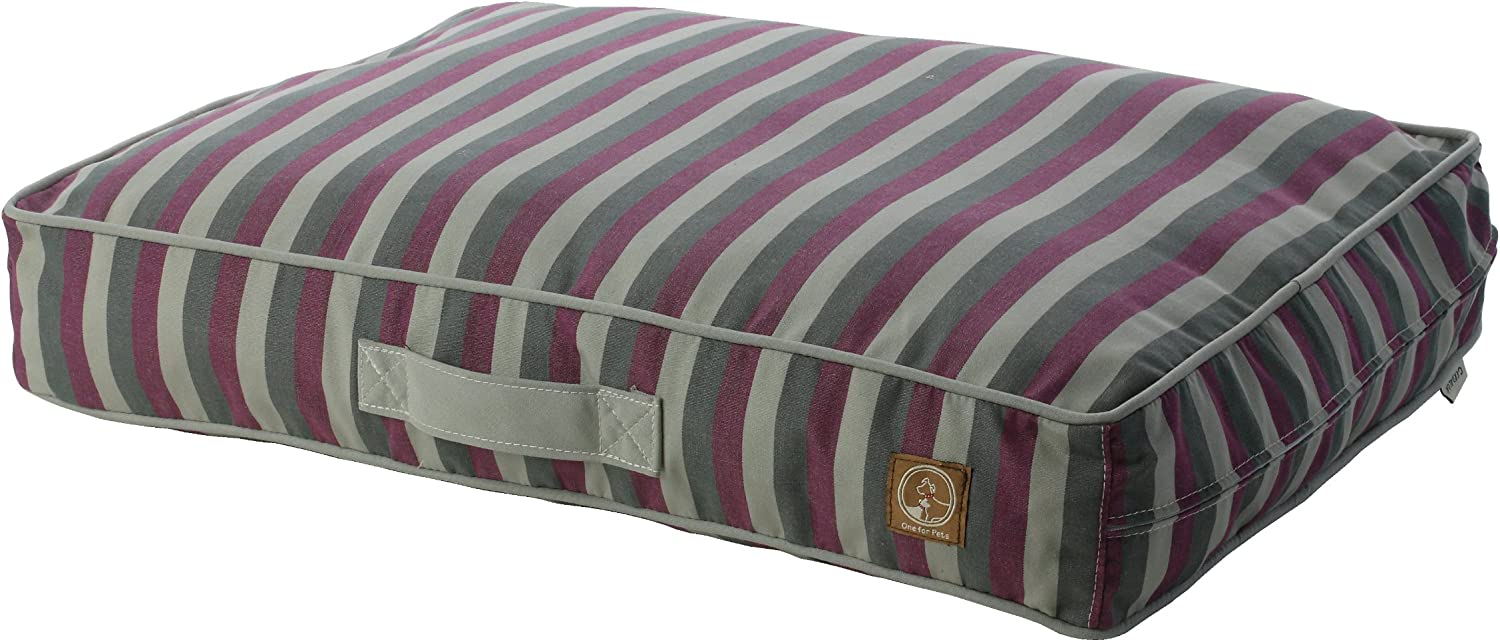 One for Pets Siesta Indoor Outdoor Pet Bed Dog Bed Duvet Cover, Large, Purple Stripe