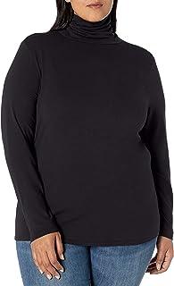 Women's Plus Size Long-Sleeve Turtleneck