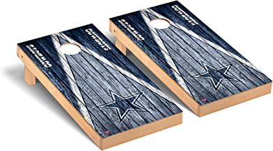 Victory Tailgate Regulation NFL Triangle Weathered Series Cornhole Board Set - 2 Boards, 8 Bags - All NFL Teams Available