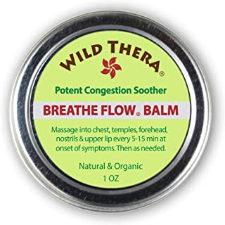 Wild Thera Breathe Easy/Breathe Flow Balm. Natural Sinus Relief, Allergy Relief, Stuffy Nose, Chest Congestion. Sinus Buster: Colds, Cough, Headache, Sinus Infection Relief, Sinus Rinse and Neti Pot