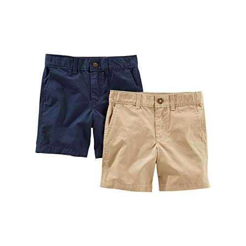 6-Kids Carters Little Boys Printed Flat-Front Canvas Shorts