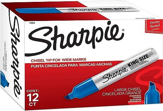 Sharpie Magnum Blue Permanent Extra Wide Pro Industrial Art Craft Marker 44003