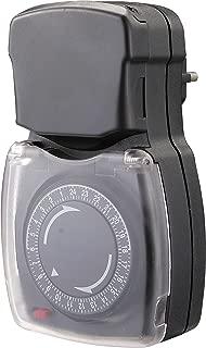 Electraline 59502 Programador Timer Diario para Uso Exterior IP44, Color Blanco