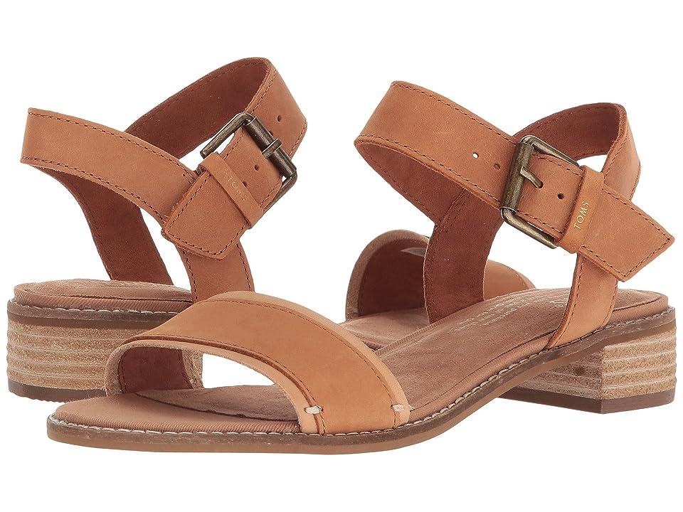 TOMS Camilia (Tan Leather) Women