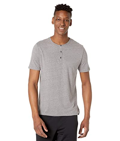Threads 4 Thought Baseline Short Sleeve Tri-Blend Henley (Heather Grey) Men