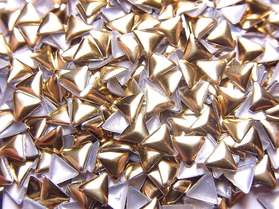 サイクロプスコンテストコンセンサス【jewel】トライアングル型(三角形)メタルスタッズ 4mm ゴールド 約100粒入り