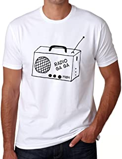 RADIO GA GA T-Shirt Men's Women's Tee Old School Vintage Gift For Music Lover Classic Rock Music Band Tshirt Radio T Shirt Rock Classics For Men For Women