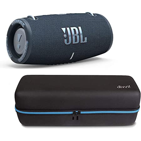 JBL Xtreme 3 Portable Waterproof/Dustproof Bluetooth Speaker Bundle with divvi! Protective Hardshell Case - Blue