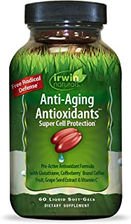 Irwin Naturals Anti-Aging Antioxidants - Free Radical Defense with Glutathione, Grape Seed Extract & Coffee Berry - 60 Liq...