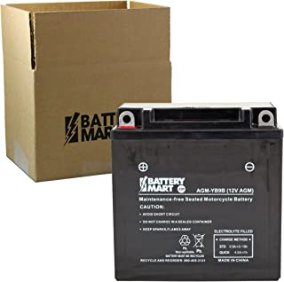 Replacement YB9B AGM Maintenance Free Battery: Replaces MOFM3290B, M229BY, 43016, 12N9-4B-1, and MORE!!