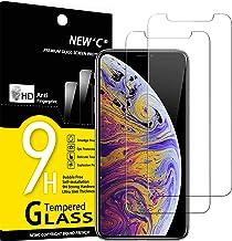 """NEW'C 2 Unidades, Protector de Pantalla para iPhone 11 Pro MAX y iPhone XS MAX (6.5""""), Antiarañazos, Antihuellas, Sin Burbujas, 9H, 0.33 mm, Ultra Transparente y Resistente"""