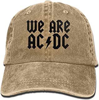 625d754c6e767 Ilense ACDC 3D Creative Personality Washed Denim Hats Autumn Summer Men  Women Golf Sunblock Hockey Caps