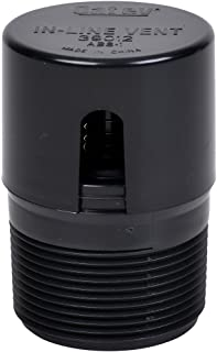 Oatey 39012 ABS In-Line Vent 2X2  13/16,Black