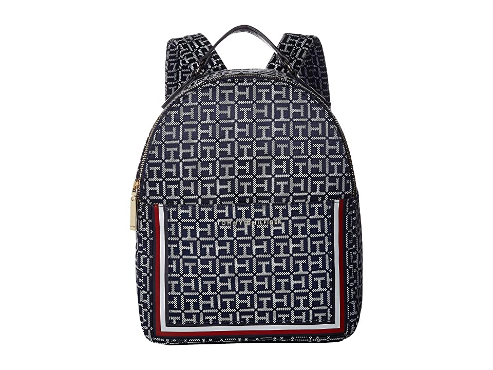 Tommy Hilfiger Carmen Backpack (Navy/White) Backpack Bags