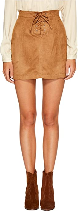 Jack by BB Dakota - Darling Woven Suede Lace-Up Skirt