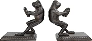 Creative Co-op Brown Cast Iron Frog (Set of 2 Pieces) Bookends