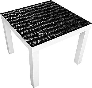Bilderwelten Table Basse Design - Way of Life - 55x55x45cm, Couleur de la Table: Table de Noir, Dimension: 55 x 55 x 45cm