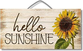 Hallo Sunshine op maat gemaakte houten borden ontwerp opknoping Gift Decor voor thuis koffiehuis Bar 5 x 10 Inch