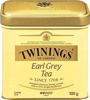 Twinings of London Earl Grey Loose Tea Tins, 3.53 Ounce (Pack of 6)
