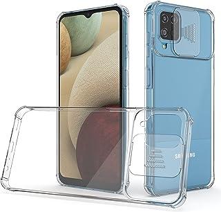 جراب SAMCASE لهاتف Samsung Galaxy A12 5G، جراب CamShield Pro مع غطاء كاميرا منزلق، جراب شفاف كريستالي [مضاد للاصفراء] جراب...