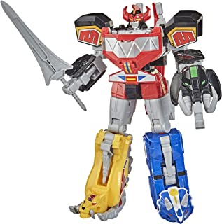 Power Rangers Mighty Morphin Megazord Megapack Includes 5 MMPR Dinozord Action Figure Toys for Boys and Girls Ages 4 and U...