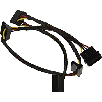 Monoprice 108794 24-Inch 4-Pin Molex Male to 4 15-Pin SATA II Female Power Cable Net Jacket