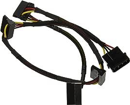 Monoprice 108794 24-Inch 4-Pin Molex Male to 4 15-Pin SATA II Female Power Cable Net Jacket