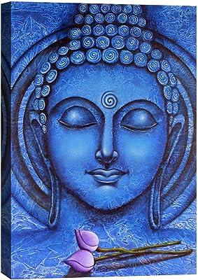 ARTAMORI Adorable Blue Buddha Canvas Painting
