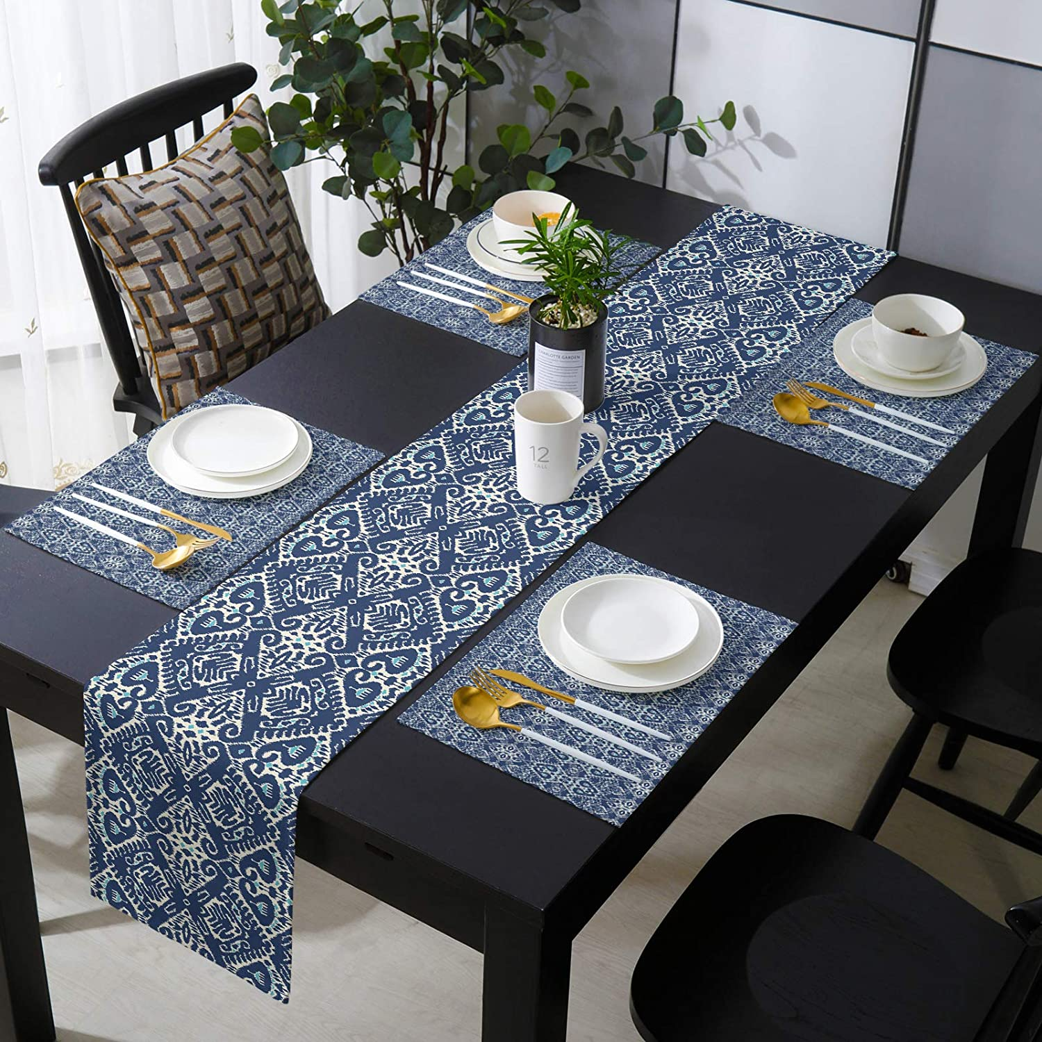 Popular brand Modern Table Decor Runner with Today's only Set Placemats Genre Style