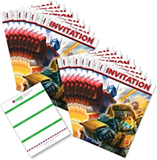 Transformers Birthday Invitations (16ct) by Party Tableware Today