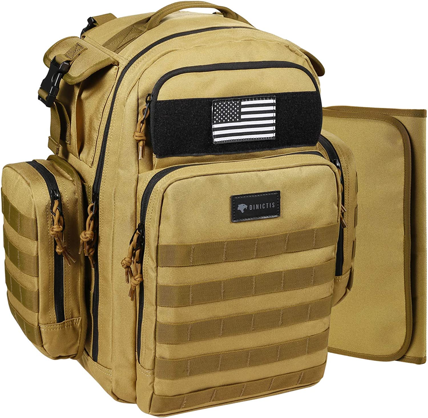 Dinictis 40L Diaper Bag Backpack for Dad,Tactical Travel Baby Nappy Bags for Men,Baby Accessories for Daddy