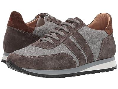 eleventy Mixed Media Running Sneaker (Grey/Brown) Men