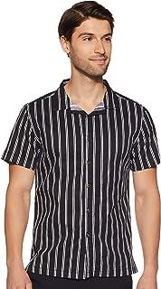 ABOF Men's Striped Slim Fit Casual Shirt