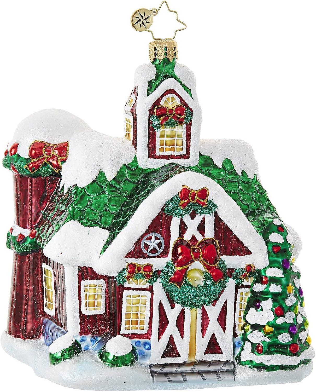 Christopher Radko Farm Fiesta Cottages & Houses Christmas Ornament