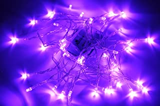 Karlling Battery Operated Purple 40 LED Fairy Light String Wedding Party Xmas Christmas Decorations(Purple)