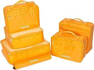 Bentoko 6 Piece Travel Packing Cube Organizer Set (Pineapple)