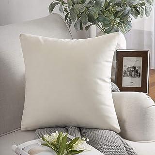 "PHANTOSCOPE Decorative Soft Velvet Series Cream White Throw Pillow Case Cushion Cover 20"" x 20"" 50 x 50 cm"