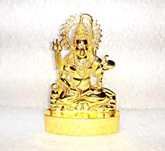 Dimensions 3.0 x4.0 INCH Golden Statue Idol of Lord Shiva Mahadev with Trishool