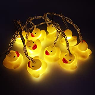 AceList 10 LED Children's Room LED String Lights for Holiday Wall Window Tree Decorative Party Yard Garden Kids Bedroom Living Dorm Uses Squeeze Sound Squeaky - Duck