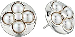 Majorica - 6mm Round Luck Sterling Silver Stud Earrings