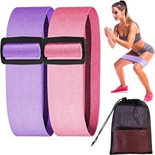 DONWELL Resistance Bands for Legs and Butt, Fabric Exercise Bands Adjustable Wide Resistance Loop Workout Hip Bands Non Sl...