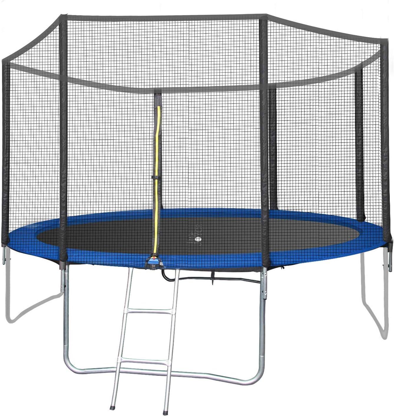 Little Joyce 12 FT Indoor Outdoor Trampoline for Kids Adults wit