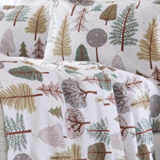Home Fashion Designs Flannel Sheets Twin Winter Bed Sheets Flannel Sheet Set Snowy Forest Flannel Sheets 100% Turkish Cotton Flannel Sheet Set. Stratton Collection (Twin, Snowy Forest)