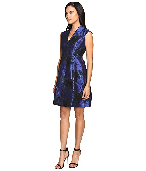 Maggy London Shadow Abstract Deep V Neck Fit And Flare At 6pm